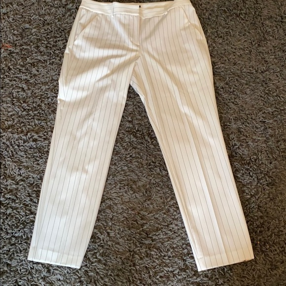Express Pants - White and black Express columnist ankle pant